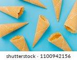 five delicious ice creams empty ...   Shutterstock . vector #1100942156