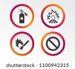 fire flame icons. fire... | Shutterstock .eps vector #1100942315