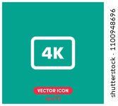4k video symbol vector icon...