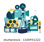 vector illustration on white... | Shutterstock .eps vector #1100951222