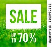 spring sale poster. 70  off... | Shutterstock . vector #1100952116