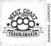 troublemakers vintage emblem... | Shutterstock .eps vector #1100952452