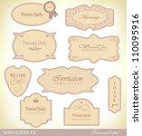 retro vintage style label. set... | Shutterstock .eps vector #110095916