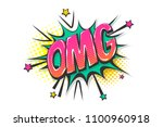 omg ouch oops wow comic text... | Shutterstock .eps vector #1100960918