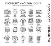 cloud computing. internet... | Shutterstock .eps vector #1100972078