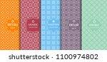 set of seamless line patterns ...