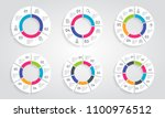 circle arrows modern colorful... | Shutterstock .eps vector #1100976512