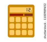 calculator icon vector. savings ... | Shutterstock .eps vector #1100989652