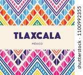 colorful mexican embroidery... | Shutterstock .eps vector #1100992355