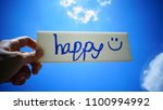 looking at the sky then happy. | Shutterstock . vector #1100994992