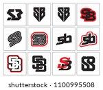 s b initial logo template... | Shutterstock .eps vector #1100995508