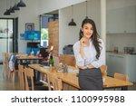 portrait of successful... | Shutterstock . vector #1100995988