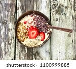 acai superfood breakfast in... | Shutterstock . vector #1100999885