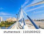 view of the seri wawasan bridge ... | Shutterstock . vector #1101003422