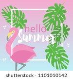 hello summer vector background... | Shutterstock .eps vector #1101010142