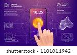 crypto online commerce. mining... | Shutterstock .eps vector #1101011942