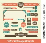 retro web design elements | Shutterstock .eps vector #110101712
