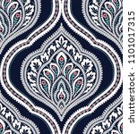 vector classic damask seamless... | Shutterstock .eps vector #1101017315