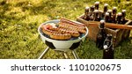 soccer themed barbecue with... | Shutterstock . vector #1101020675