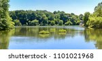 a landscape photo of a lake in... | Shutterstock . vector #1101021968