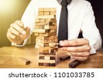 hand of business man is... | Shutterstock . vector #1101033785