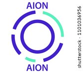aion coin cryptocurrency... | Shutterstock .eps vector #1101036956