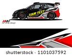 race car livery vector designs. ... | Shutterstock .eps vector #1101037592