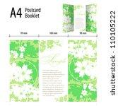 abstract cover design posrcard | Shutterstock .eps vector #110105222