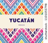 yucat n  mexican state ... | Shutterstock .eps vector #1101053798