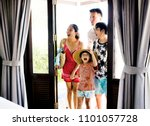 asian family on vacation | Shutterstock . vector #1101057728