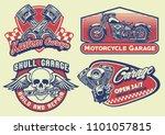 set of bagde design vintage... | Shutterstock .eps vector #1101057815