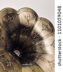 close up vintage speaker pattern | Shutterstock . vector #1101059048