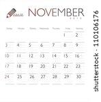 Vector Calendar 2013 November