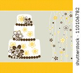 template greeting card  vector... | Shutterstock .eps vector #110106782