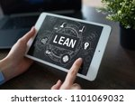 lean manufacturing. quality and ... | Shutterstock . vector #1101069032
