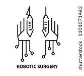 robotic arms line icon with... | Shutterstock .eps vector #1101071462