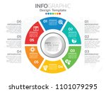 6 step of timeline infographics ... | Shutterstock .eps vector #1101079295