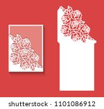 paper greeting card with lace... | Shutterstock .eps vector #1101086912