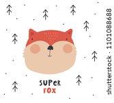 Stock vector coot cartoon fox wild fox 1101088688