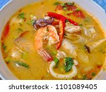 tom yum kung is thai curry. it... | Shutterstock . vector #1101089405