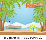 summer holiday concept with men ... | Shutterstock .eps vector #1101090722