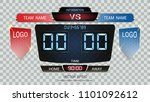digital timing scoreboard ... | Shutterstock .eps vector #1101092612