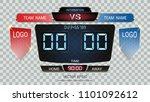 digital timing scoreboard ...   Shutterstock .eps vector #1101092612