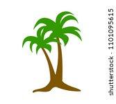vector palm tree illustration ... | Shutterstock .eps vector #1101095615