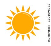 weather forecast icon  vector... | Shutterstock .eps vector #1101095732