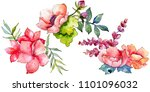 pink bouquet wildflower. floral ... | Shutterstock . vector #1101096032