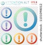 attention alt geometric... | Shutterstock .eps vector #1101098012