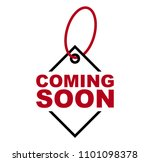 red vector banner coming soon | Shutterstock .eps vector #1101098378