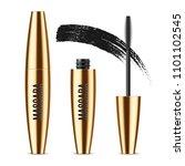 realistic vector golden mascara ... | Shutterstock .eps vector #1101102545