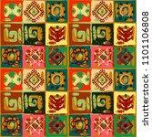 ethnic seamless pattern. tribal ... | Shutterstock .eps vector #1101106808